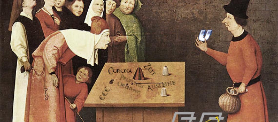 Frei nach Hieronymus Bosch: Der Gaukler (um 1502). Quelle: Wikipedia Commons.